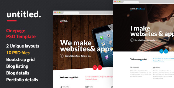 Untitled - Onepage Parallax PSD Template - Creative PSD Templates