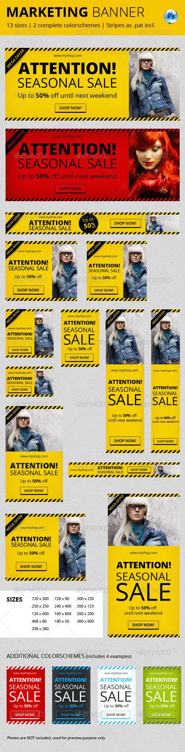 Marketing Banner Vol. II - Banners & Ads Web Elements