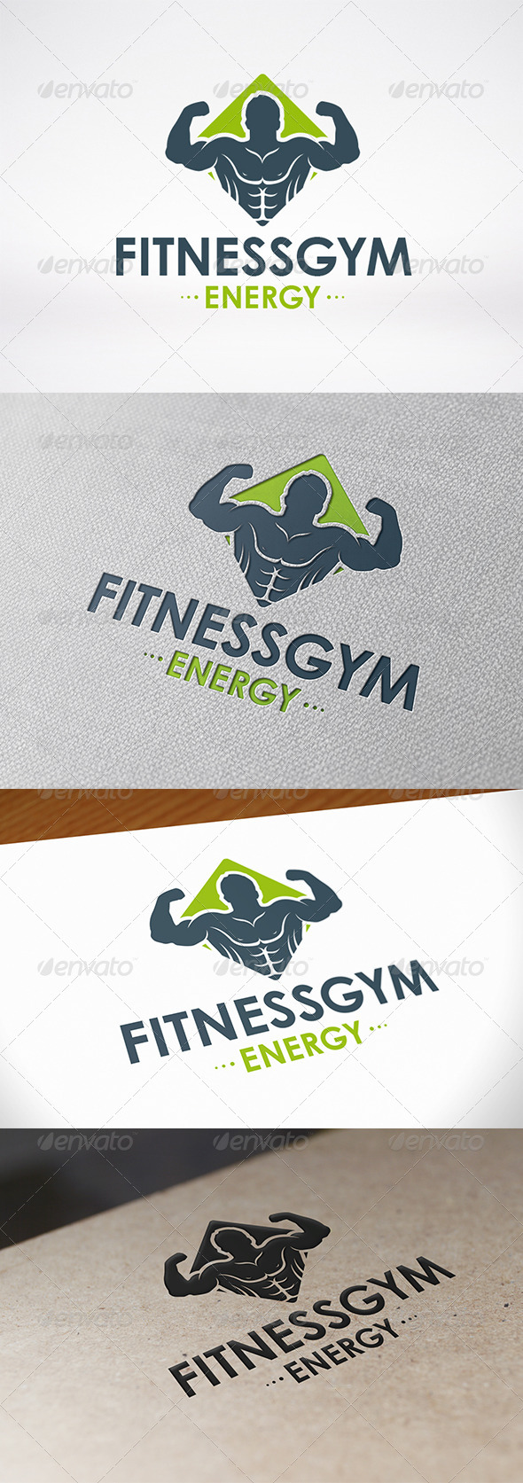 Fitness Gym Logo Template - Humans Logo Templates