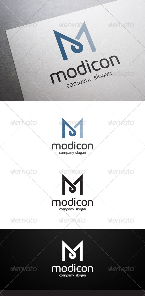 Modicon M Letter Logo - Letters Logo Templates