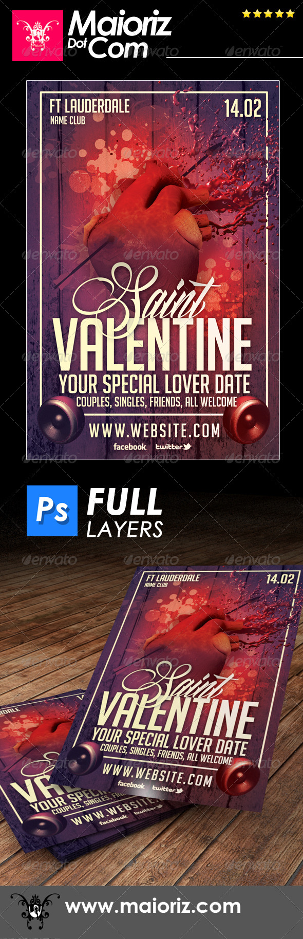 Saint Valentines Flyer Holiday - Holidays Events
