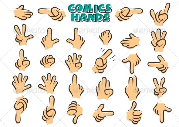 Comics Hands - Miscellaneous Conceptual