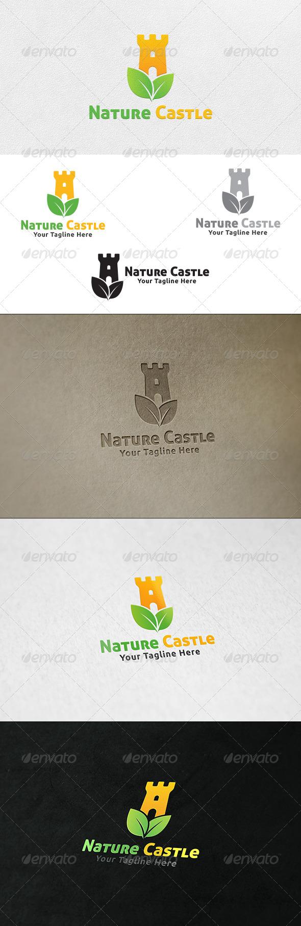 Nature Castle - Logo Template - Symbols Logo Templates