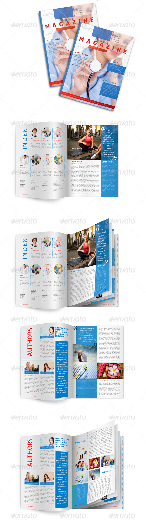 Medical Magazine Template - Magazines Print Templates