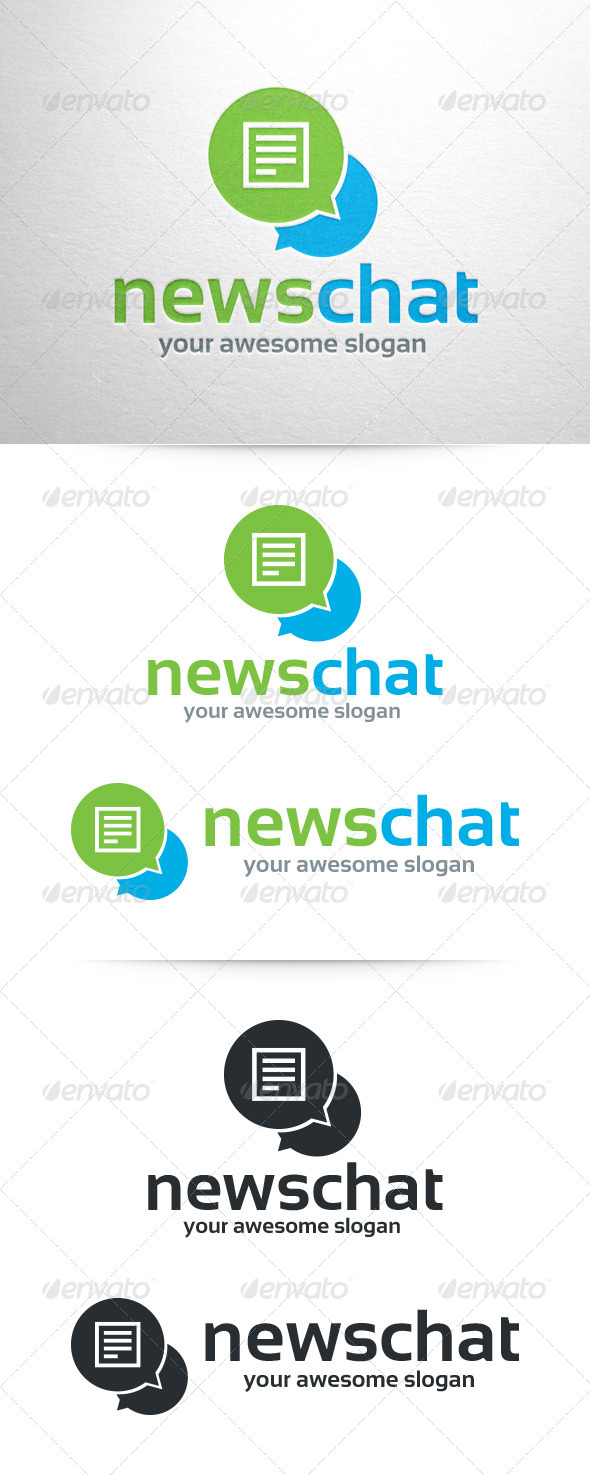 News Chat Logo Template by LiveAtTheBBQ | GraphicRiver