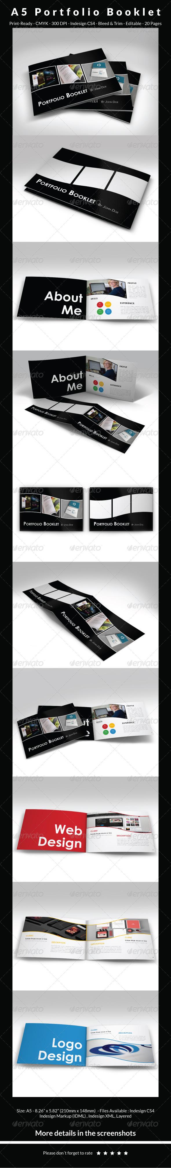 A5 Portfolio Booklet - Portfolio Brochures
