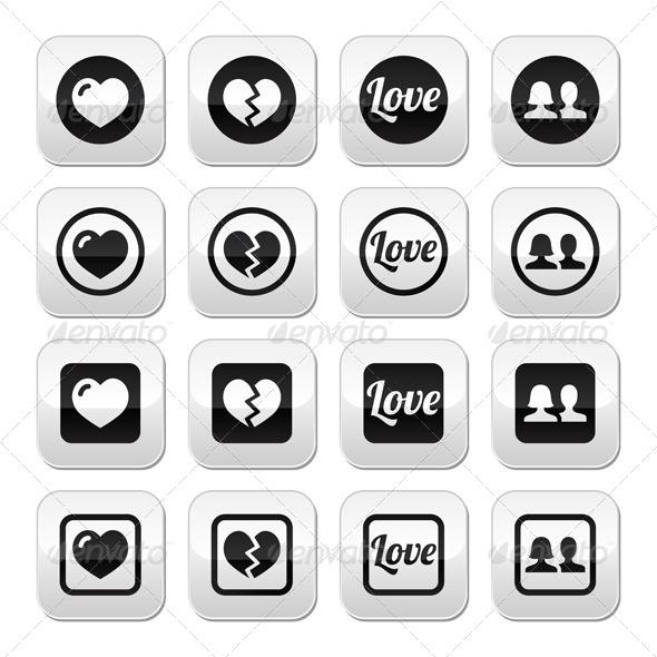 Valentine Buttons - Valentines Seasons/Holidays