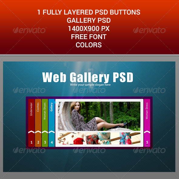 WEB BUTTONS GALLERY PSD TEMPLATE - Buttons Web Elements
