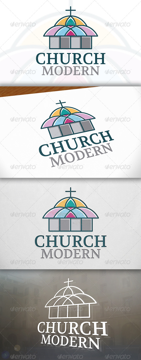 Color Church Logo - Buildings Logo Templates