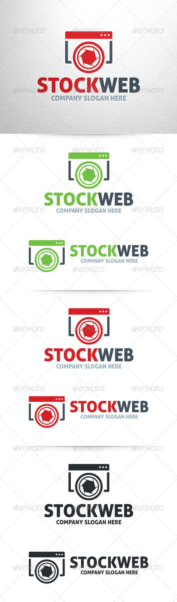 Stock Web Logo Template - Symbols Logo Templates