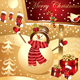 Christmas illustration with happy snowman - GraphicRiver Item for Sale