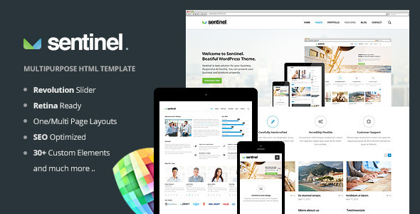 Sentinel – Responsive Multi-Purpose Template