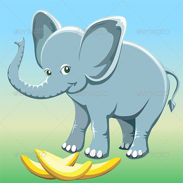 The baby elephant - Animals Characters