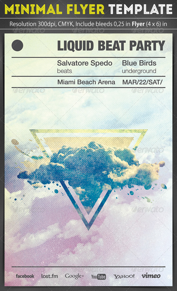 Minimal Flyer Template - Clubs & Parties Events