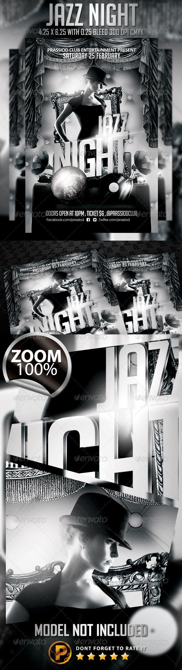 Jazz Night Flyer Template - Clubs & Parties Events