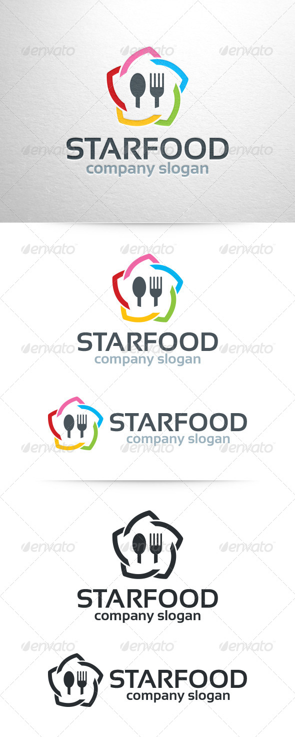 Star Food Logo Template - Food Logo Templates