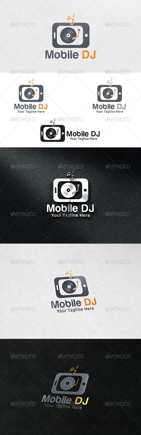 Mobile DJ - Logo Template - Symbols Logo Templates