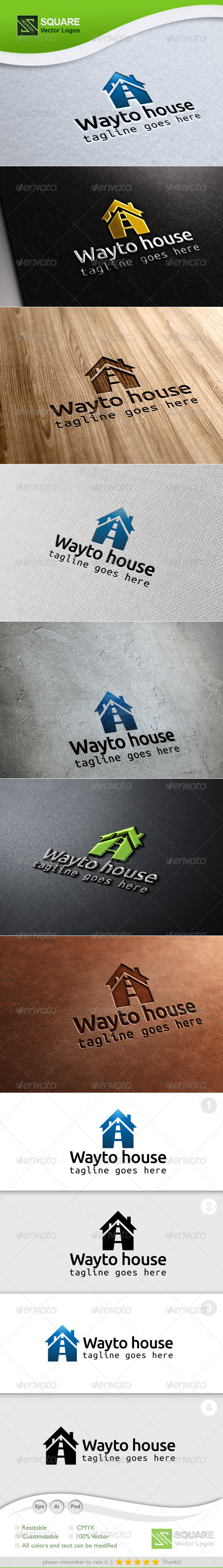 Way, House Vector Logo Template - Buildings Logo Templates