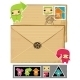 Funny envelope and stamps - GraphicRiver Item for Sale