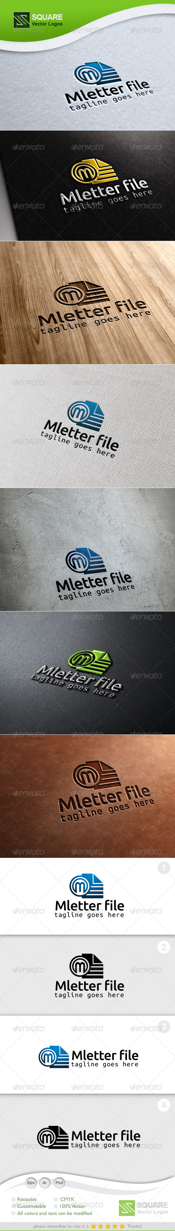 M, File Vector Logo Template - Letters Logo Templates