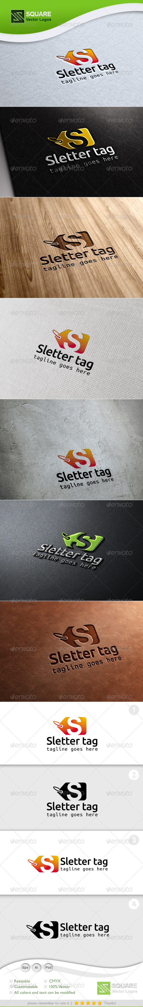 S, Tag Vector Logo Template - Letters Logo Templates