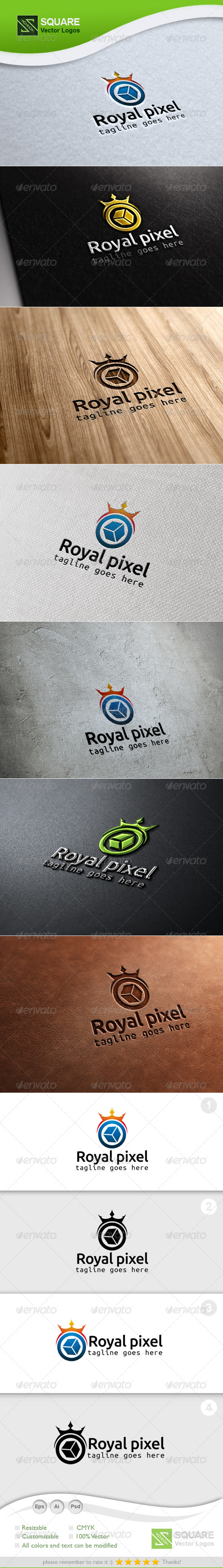 Crown, Pixel Vector Logo Template - Symbols Logo Templates