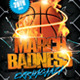 March Badness Basketball Party Flyer Template - GraphicRiver Item for Sale