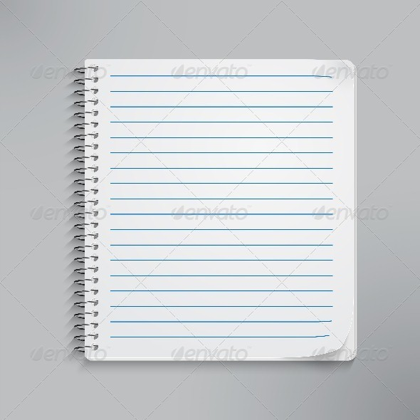 Realistic Spiral Notebook - Objects Vectors
