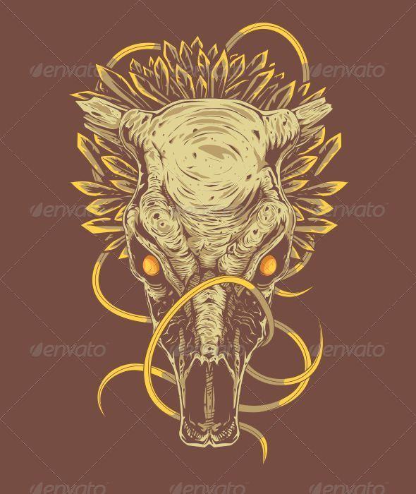 Bull Skull - Vectors