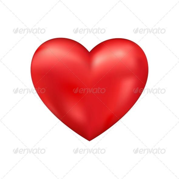 Shiny 3D Vector Heart - Valentines Seasons/Holidays