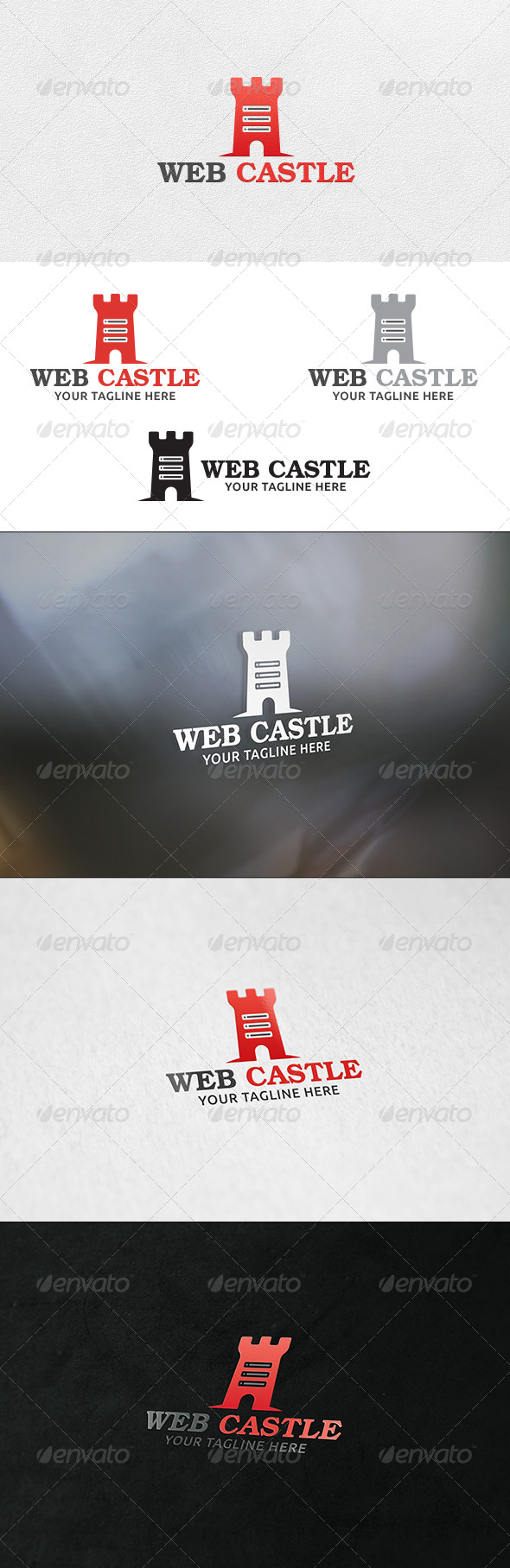 Web Castle - Logo Template - Buildings Logo Templates