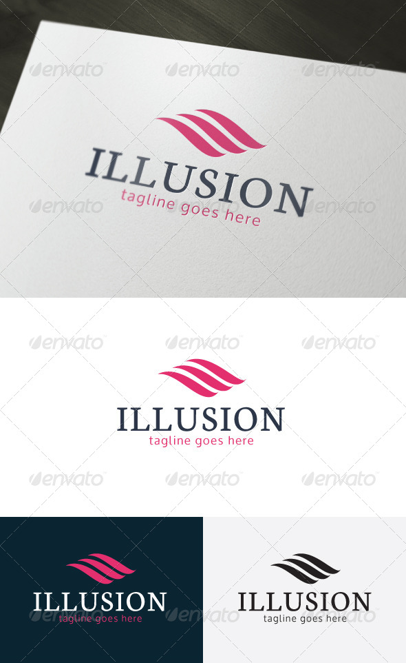 Illusion Logo - Vector Abstract