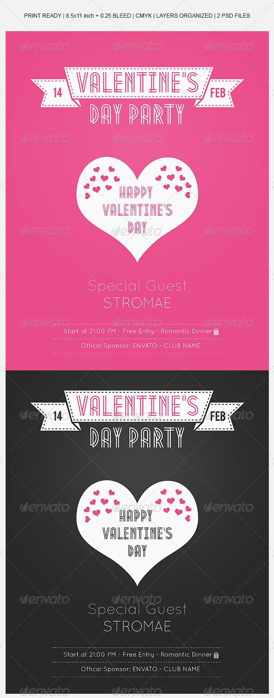 Valentine's Day Modern Flyer - Events Flyers