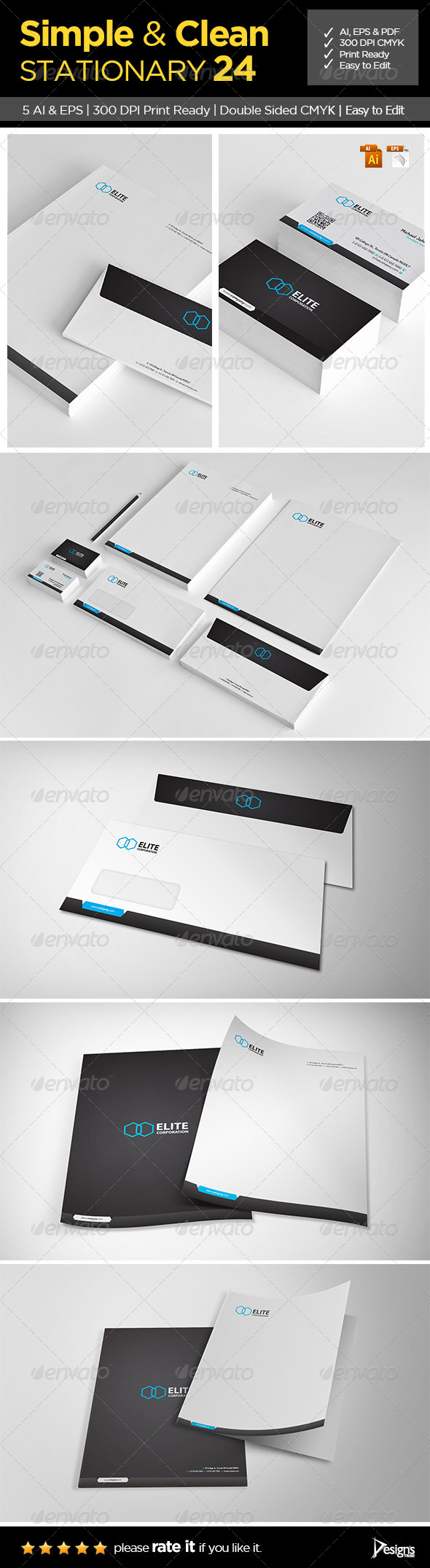 Simple and Clean Stationery 24 - Stationery Print Templates