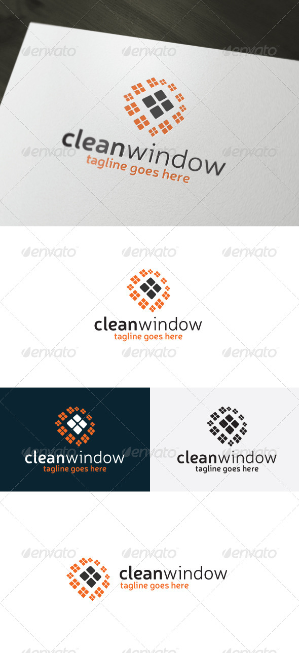 Clean Window Logo - Vector Abstract