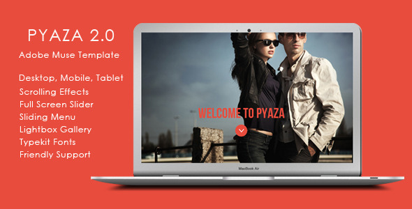 Pyaza - Multi-purpose Muse Template - Corporate Muse Templates