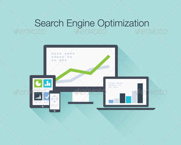 SEO Marketing Concept - Web Technology