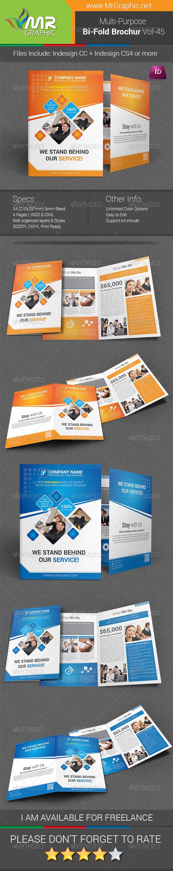 Multipurpose Bifold Brochure Template Vol-45 - Corporate Brochures
