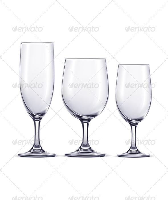 Wine Glasses - Man-made Objects Objects