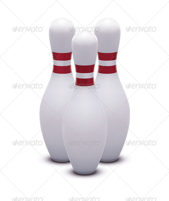 Bowling Skittles - Man-made Objects Objects
