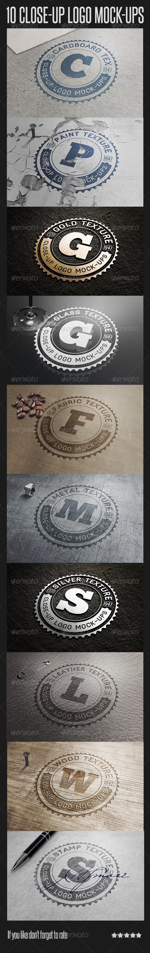 10 Close-Up Logo Mock-Ups - Logo Product Mock-Ups