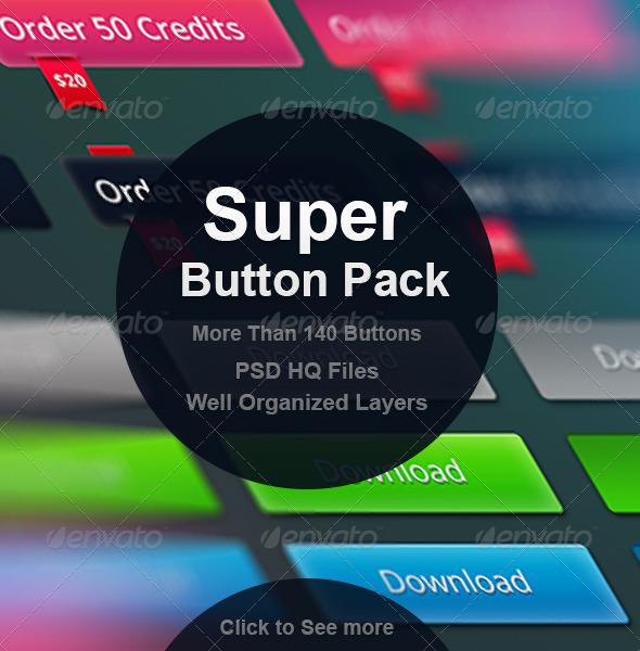 Super Button Pack  - Buttons Web Elements