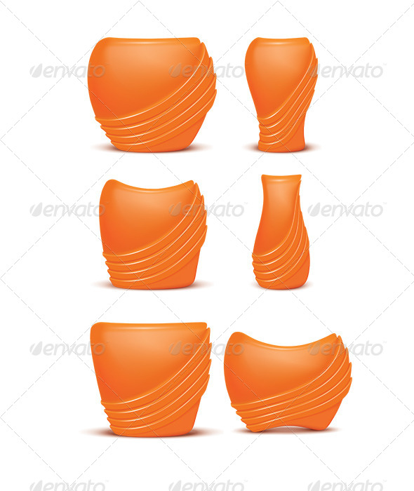 Set of Vases - Man-made Objects Objects