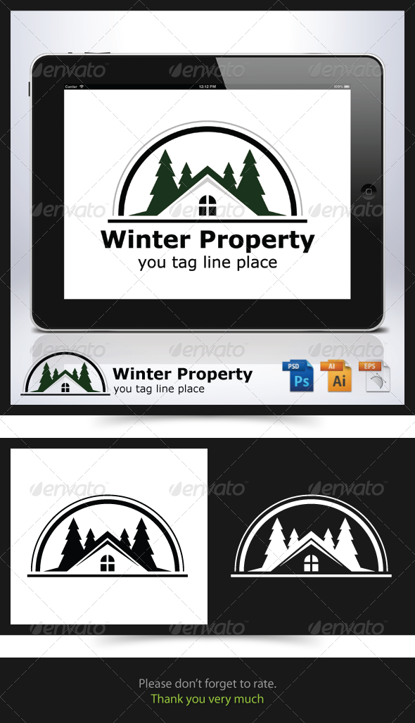 Winter Property Logo - Buildings Logo Templates