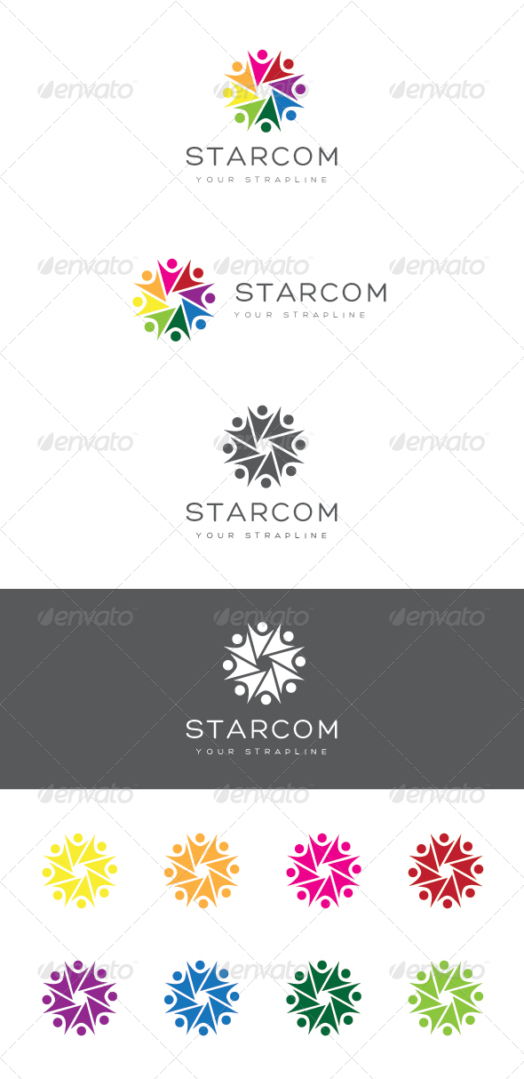 Starcom Logo - Humans Logo Templates