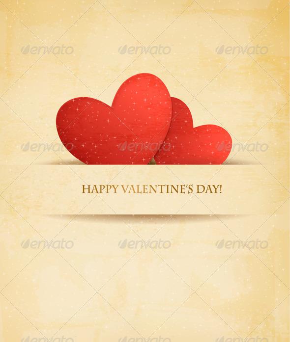 Holiday Vintage Valentine`s Day Background - Valentines Seasons/Holidays