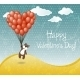 Valentines Day Card with Flying Teddy Bear - GraphicRiver Item for Sale