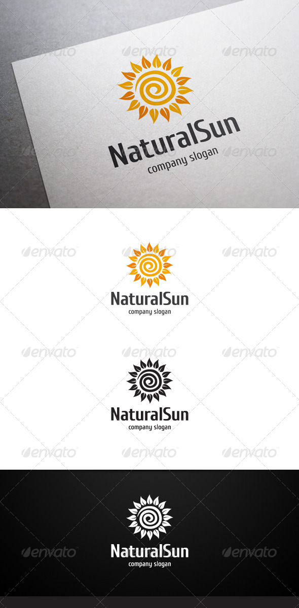 Natural Sun Logo - Nature Logo Templates