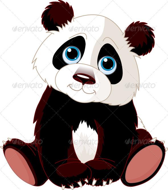Sitting Panda - Animals Characters