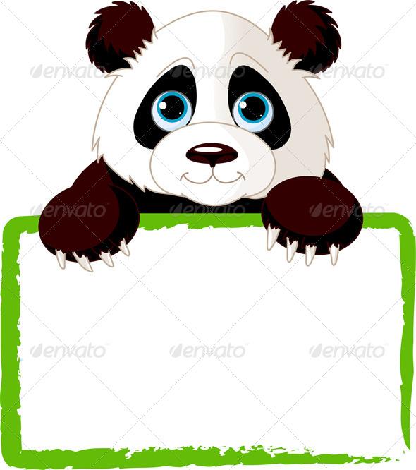 Panda Card - Animals Characters